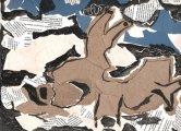 """""""Epaves de bord de plage"""" Collage et dessin"""
