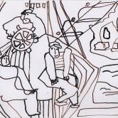 Navigations en Corse Dessin à l'encre (16 / 25 cm)