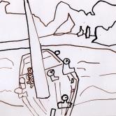 Cotes de Corse Dessin à l'encre ( 16 / 25 cm)