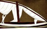 """""""A ferler"""" Découpage et dessin sur papier (32 / 16 cm)"""