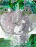 """""""Enfant grenouille"""" Huile sur papier (32 / 25 cm)"""