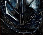"""""""Navigation de nuit"""" Huile sur papier (30 / 60 cm)"""