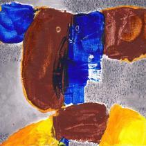 """""""enfant"""" Huile sur carton entoilé (20 / 20 cm)"""