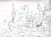 """""""Irma-Louis"""" dessin à l'encre de Chine ( 22 / 30 cm)"""