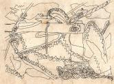 """""""Bout dehors"""" dessin encre de chine (25 / 10 cm)"""