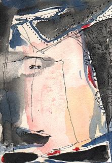 """""""Yaya"""" Aquarelle et encre (11 / 16,5 cm)"""
