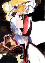 """""""Hommage à Rembrandt"""" Aquarelle (32 / 24)"""