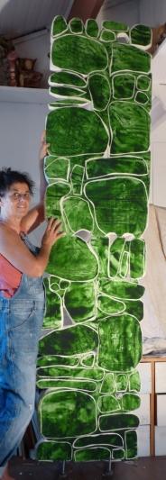 mur vert compressé